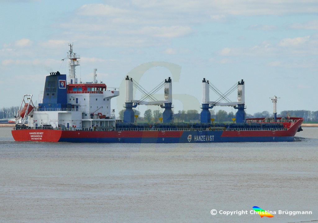 Bulk Carrier HANZE GENDT, Elbe 10.04.2019,  BILD 7