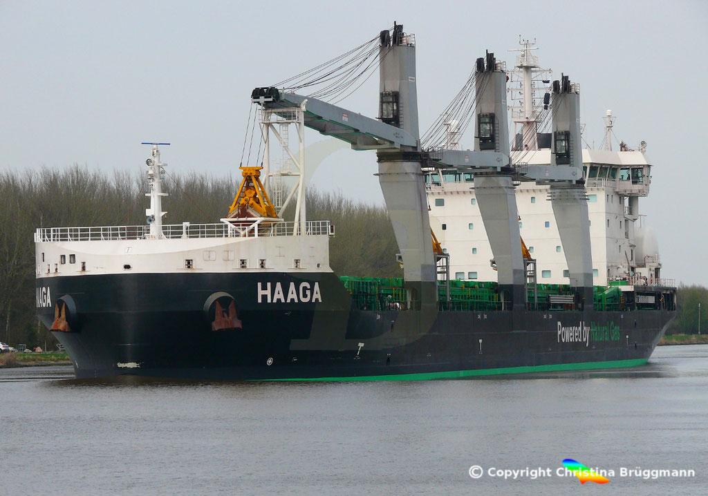 Bulk Carrier/Mehrzweckfrachter HAAGA, Nord-Ostsee-Kanal 02.04.2019,  BILD 3