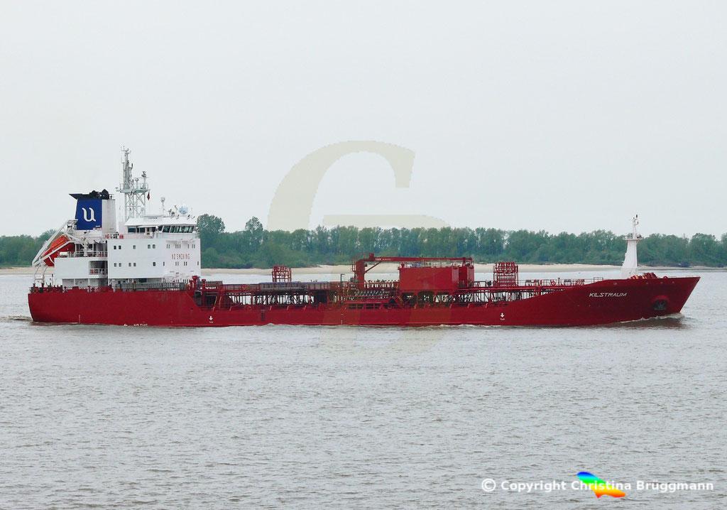 Chemie- / Ölprodukttanker KLISTRAUM, Elbe 08.05.2019 / BILD 2