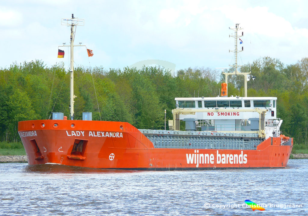 Mehrzweckschiff LADY ALEXANDRA, NOrd-Ostsee-Kanal 07.05.2019 /  BILD 1