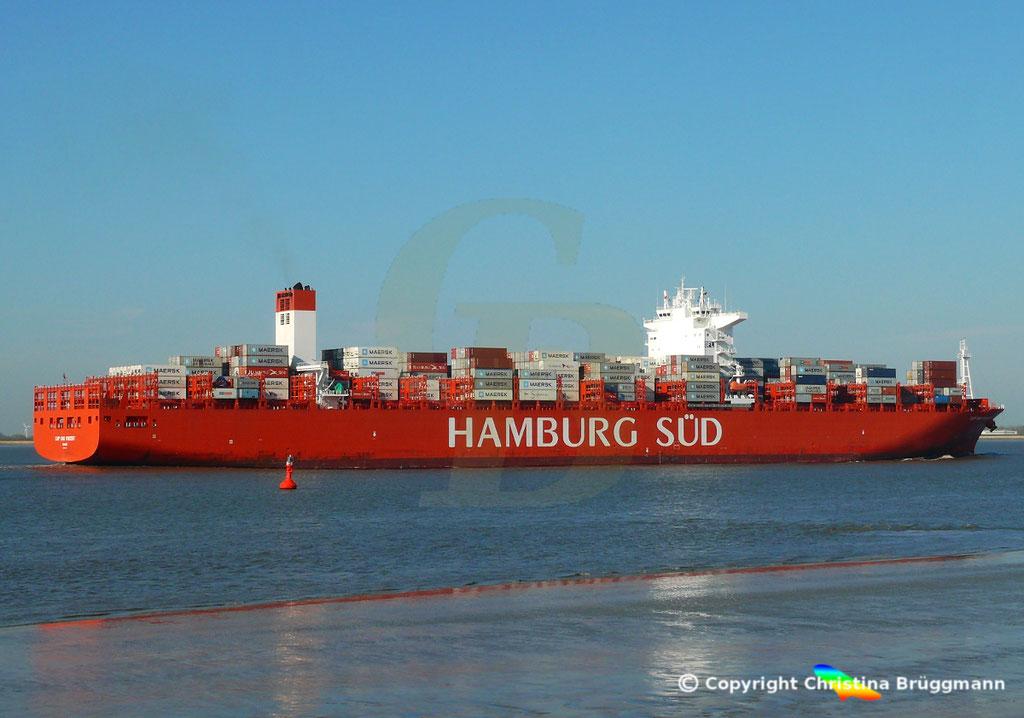 Hamburg Süd Containerschiff CAP SAN VINCENT, Elbe 17.04.2019,  BILD 7
