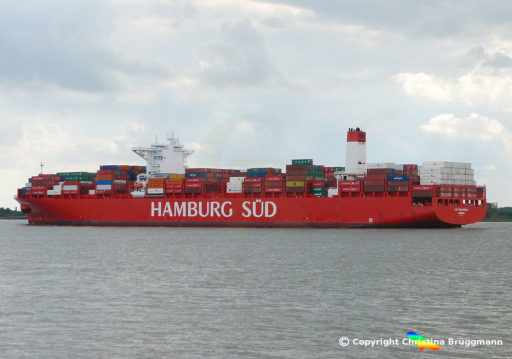 Containerschiff CAP SAN MARCO, Elbe 02.10.2016, BILD 5