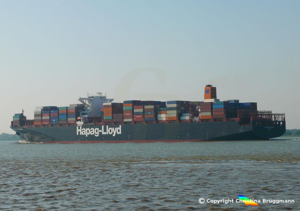 Hapag-Lloyd Containerschiff ANTWERPEN EXPRESS, Elbe 21.08.2015, BILD 8