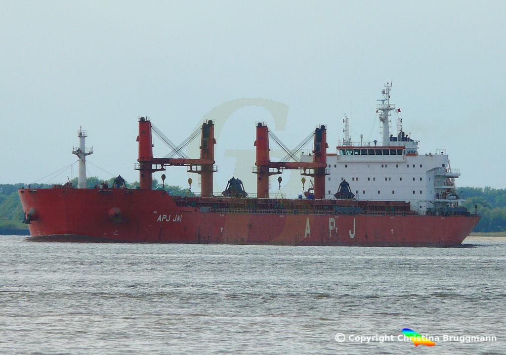 Bulk Carrier APS JAI, Elbe 14.09.2018, Bild 1