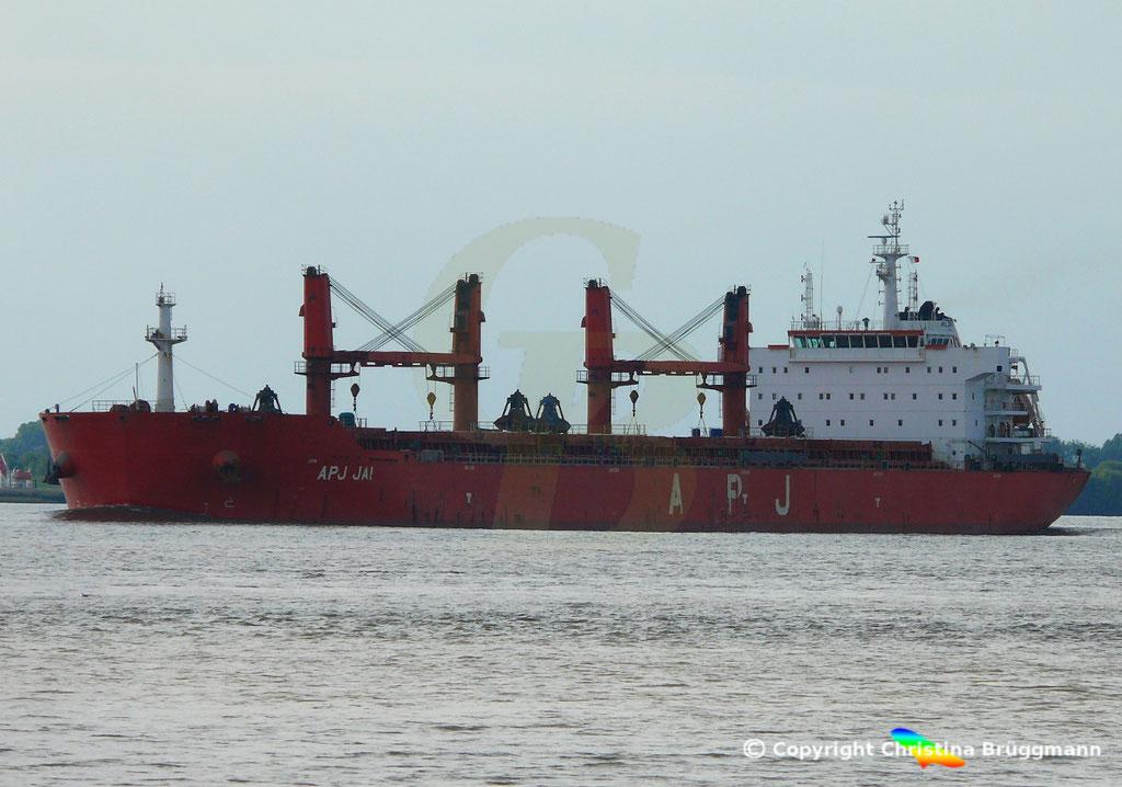 Bulk Carrier APS JAI, Elbe 14.09.2018, Bild 2