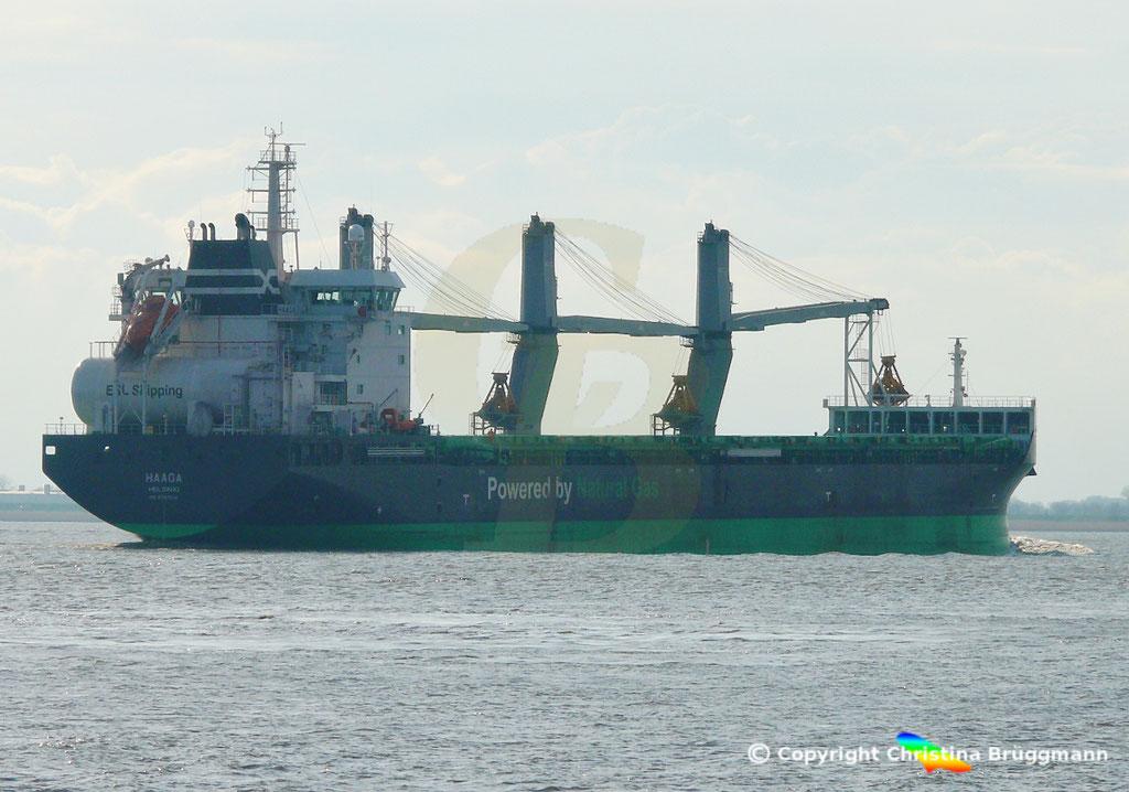 Bulk Carrier/Mehrzweckfrachter HAAGA, Elbe 03.04.2019,  BILD 15