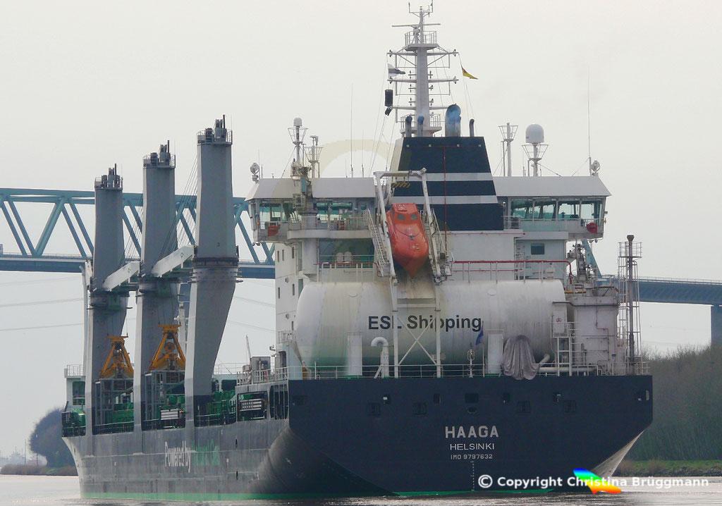 Bulk Carrier/Mehrzweckfrachter HAAGA, Nord-Ostsee-Kanal 02.04.2019,  BILD 7