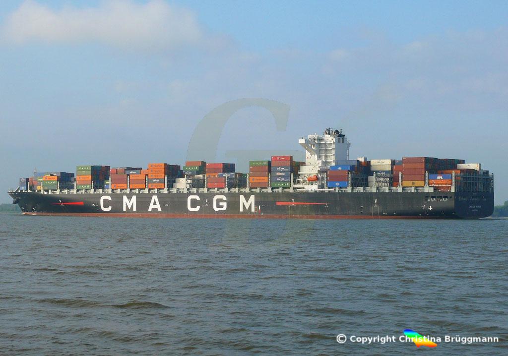 Containerschiff CMA CGM MUMBAI, Elbe 18.07.2018,  BILD 4