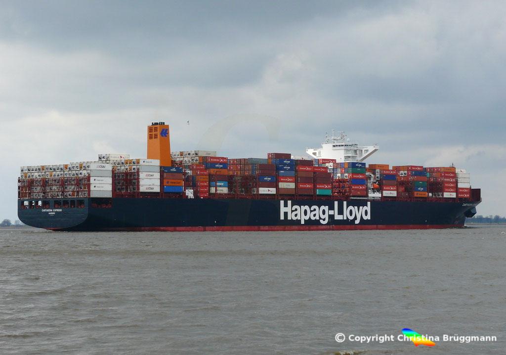 Containerschiff CARTAGENA EXPRESS, Elbe 05.03.2017, BILD 5