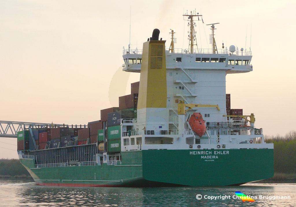 Containerschiff HEINRICH EHLER, NOK 07.04.2019, Sietas TYP 178,  BILD 7