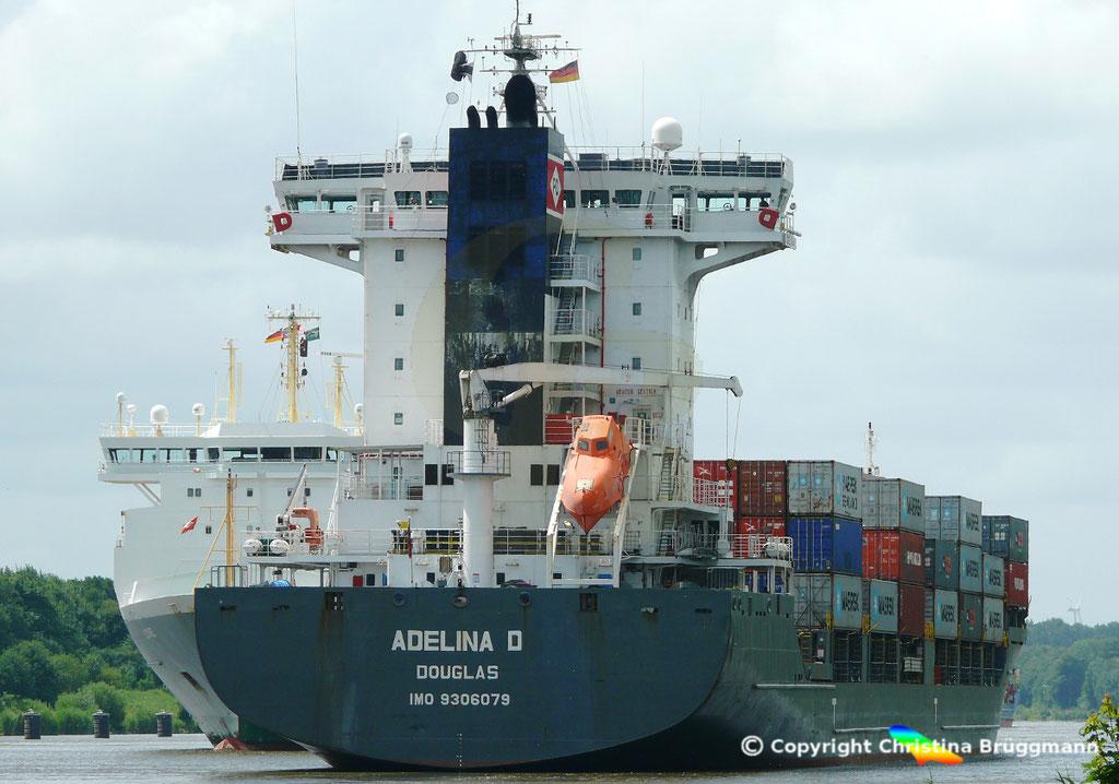 Containerschiff ADELINA D, Nord-Ostsee Kanal 22.06.2018,  BILD 4