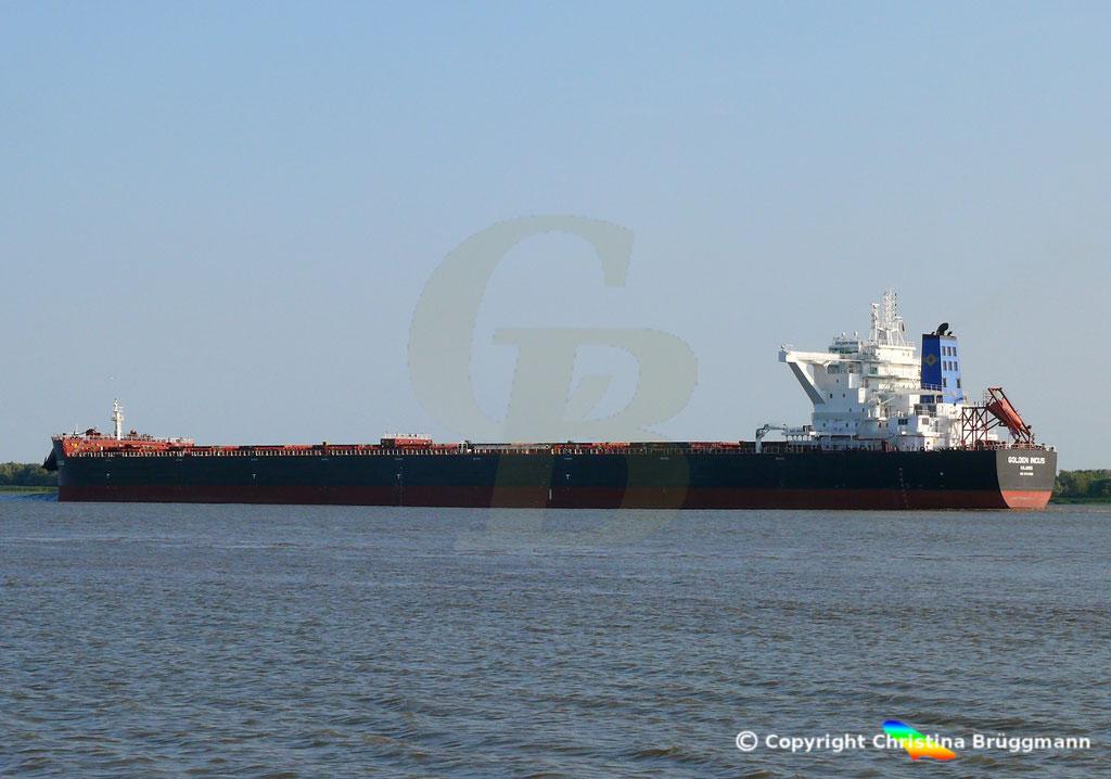 Bulk Carrier GOLFEN INCUS, Erstanlauf Hamburg, 19.07.2018, Bild 1