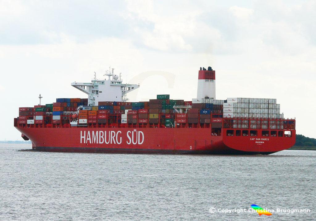 Containerschiff CAP SAN MARCO, Elbe 02.10.2016, BILD 6