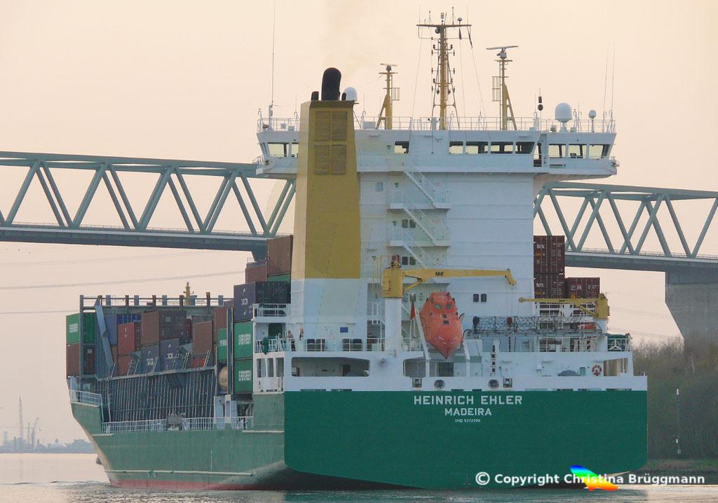 Containerschiff HEINRICH EHLER, NOK 07.04.2019, Sietas TYP 178,  BILD 8