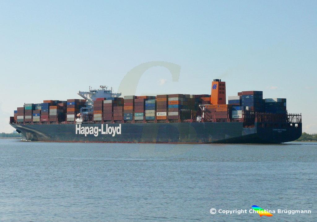 Containerschiff LEVERKUSEN EXPRESS, Elbe 19.04.2017 / BILD 7
