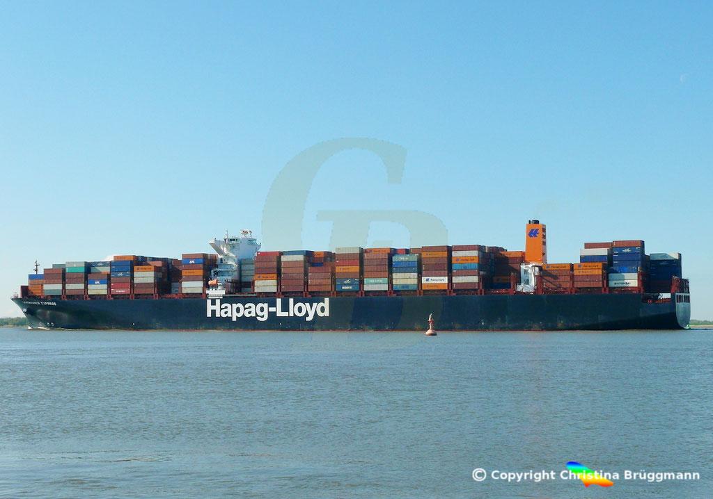Containerschiff LEVERKUSEN EXPRESS, Elbe 19.04.2017 / BILD 6