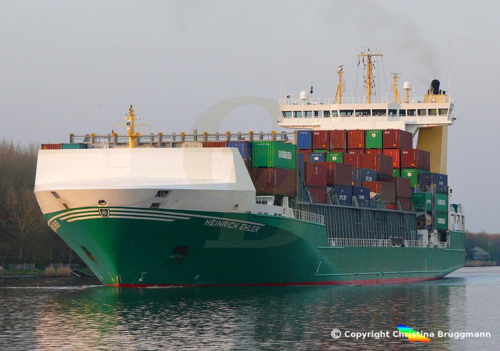 Containerschiff HEINRICH EHLER, NOK 07.04.2019, Sietas TYP 178,  BILD 2