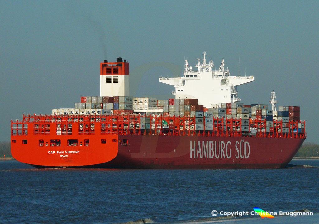 Hamburg Süd Containerschiff CAP SAN VINCENT, Elbe 17.04.2019,  BILD 9