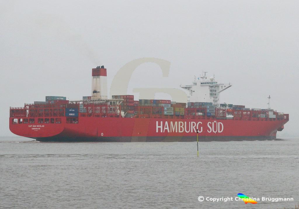 Containerschiff CAP SAN NICOLAS, Elbe 05.11.2018, Bild 11