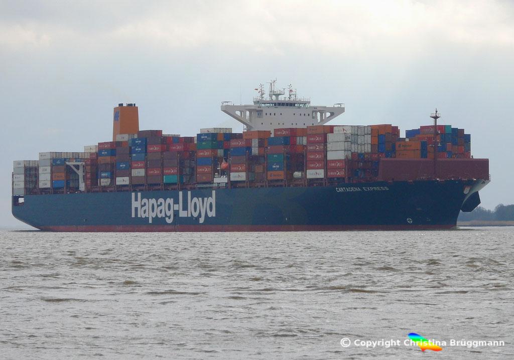 Containerschiff CARTAGENA EXPRESS, Elbe 05.03.2017, BILD 2