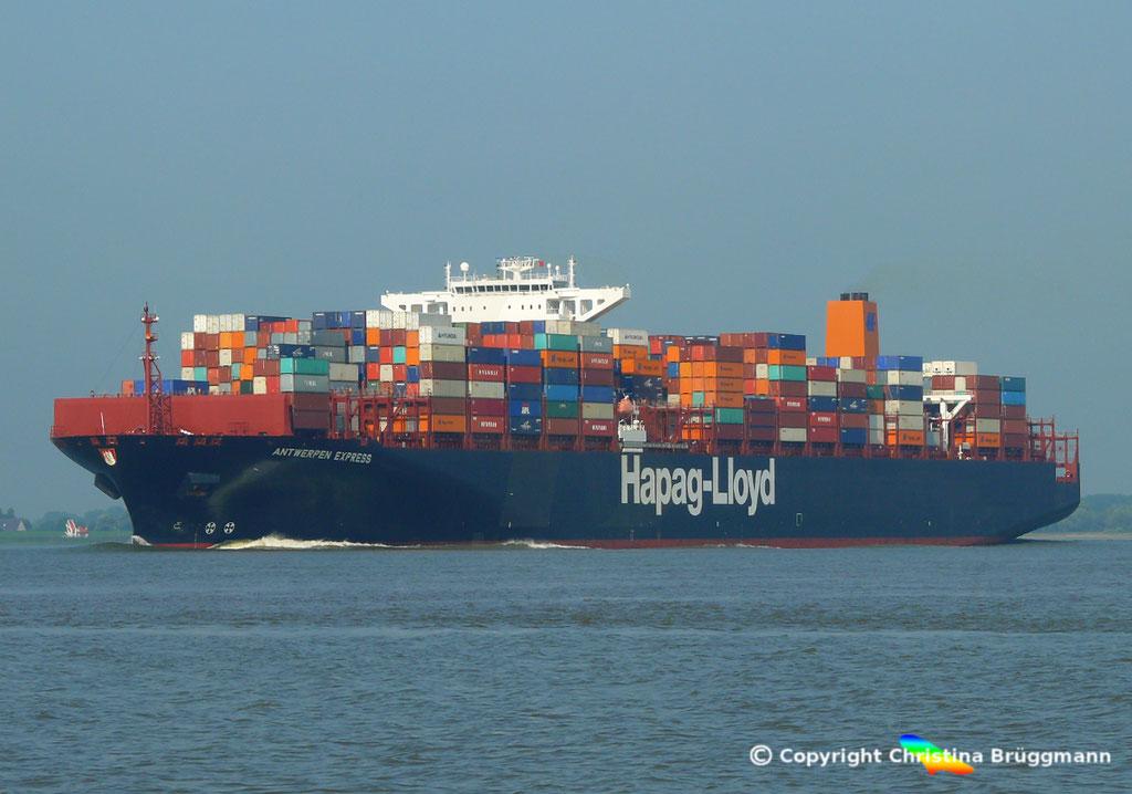 Hapag-Lloyd Containerschiff ANTWERPEN EXPRESS, Elbe 21.08.2015, BILD 3