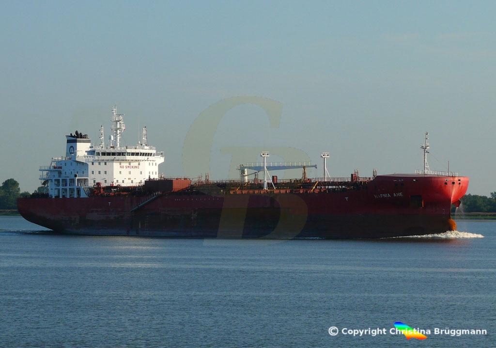 Tanker HAFNIA ANE, Elbe 05.09.2018,  BILD 3