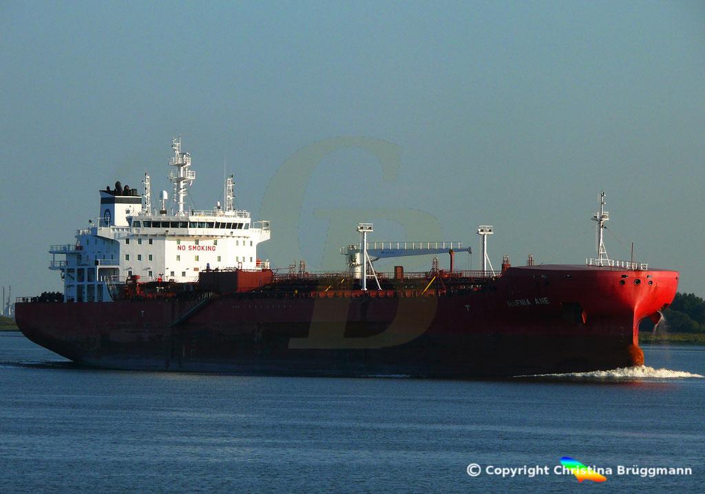 Tanker HAFNIA ANE, Elbe 05.09.2018,  BILD 2