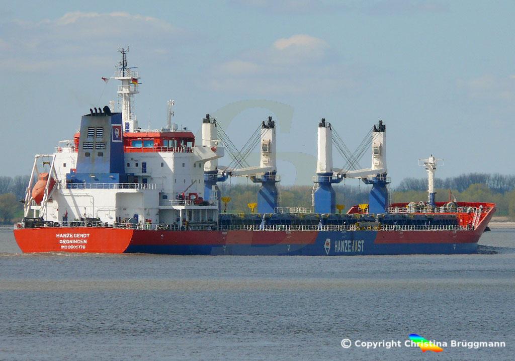 Bulk Carrier HANZE GENDT, Elbe 10.04.2019,  BILD 9