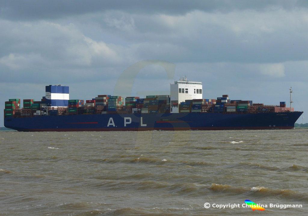 Containerschiff APL LION CITY, Elbe 06.07.2019,  BILD 4