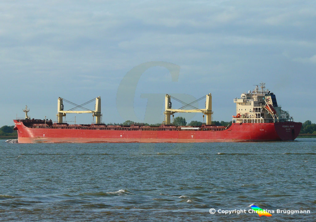 Bulk Carrier FEDERAL RUHR, Elbe 31.08.2018, Bild 6