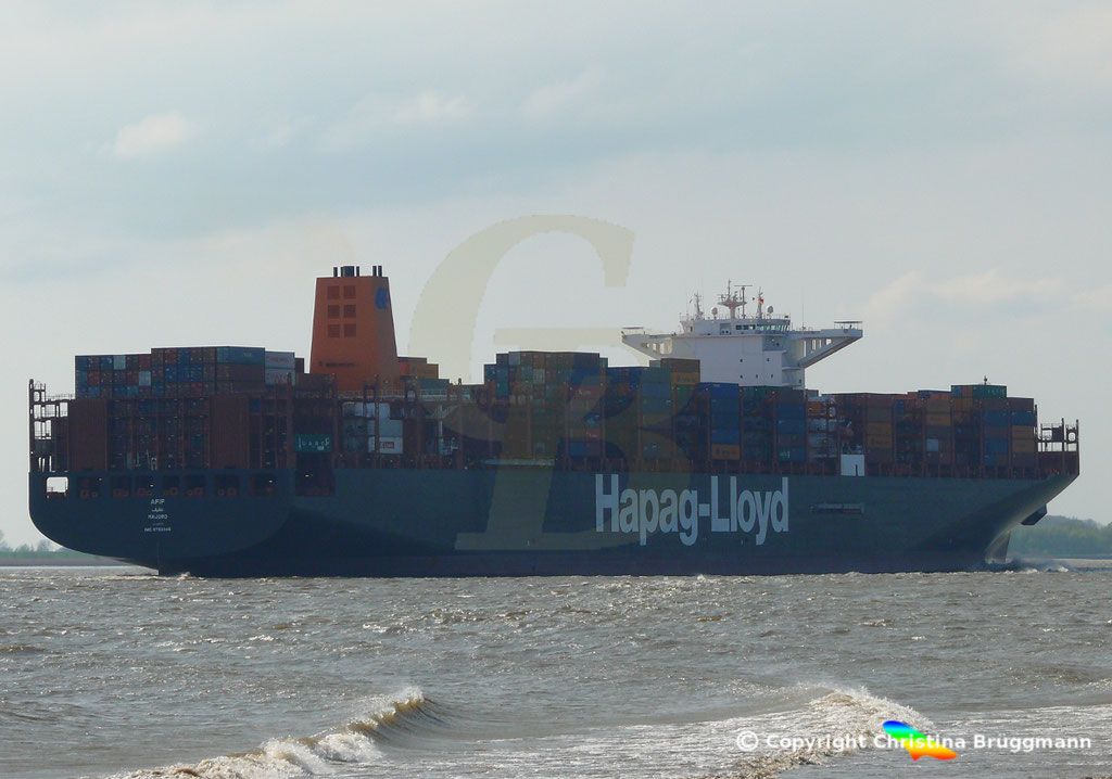 Containerschiff AFIF, Elbe 23.04.2018,  BILD 4