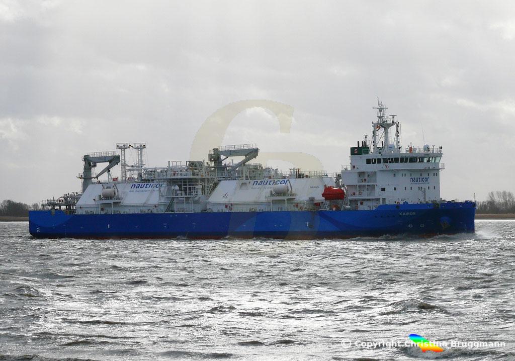 LNG Bunker-Tanker KAIROS; Elbe 09.02.2019,  BILD 3
