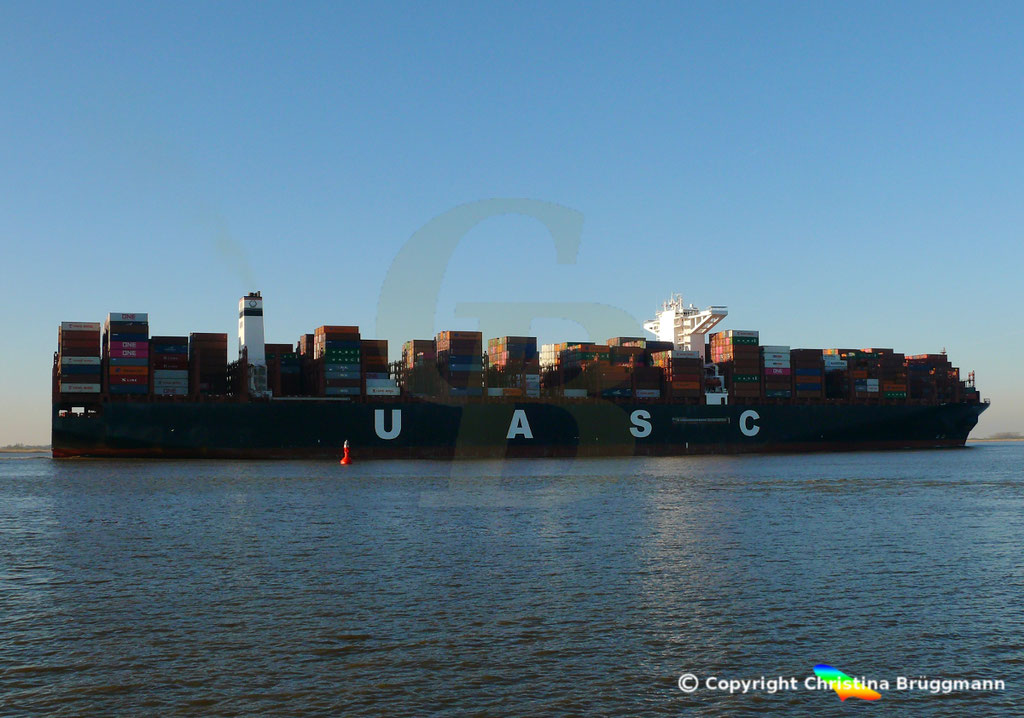 Hapag-Llloyd Containerschiff BARZAN, Elbe 16.02.2019,  BILD 4