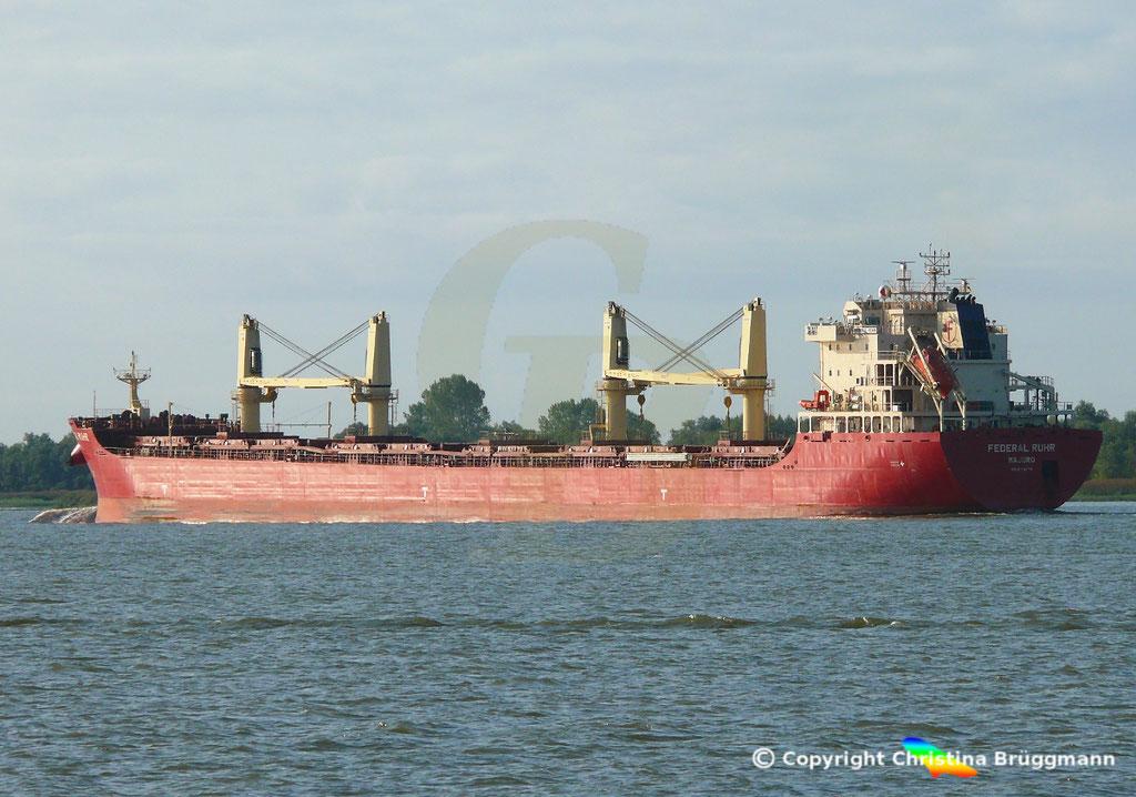 Bulk Carrier FEDERAL RUHR, Elbe 31.08.2018, Bild 7