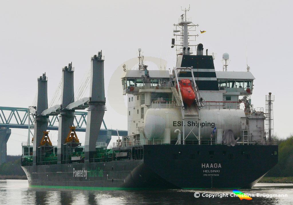 Bulk Carrier/Mehrzweckfrachter HAAGA, Nord-Ostsee-Kanal 02.04.2019,  BILD 6
