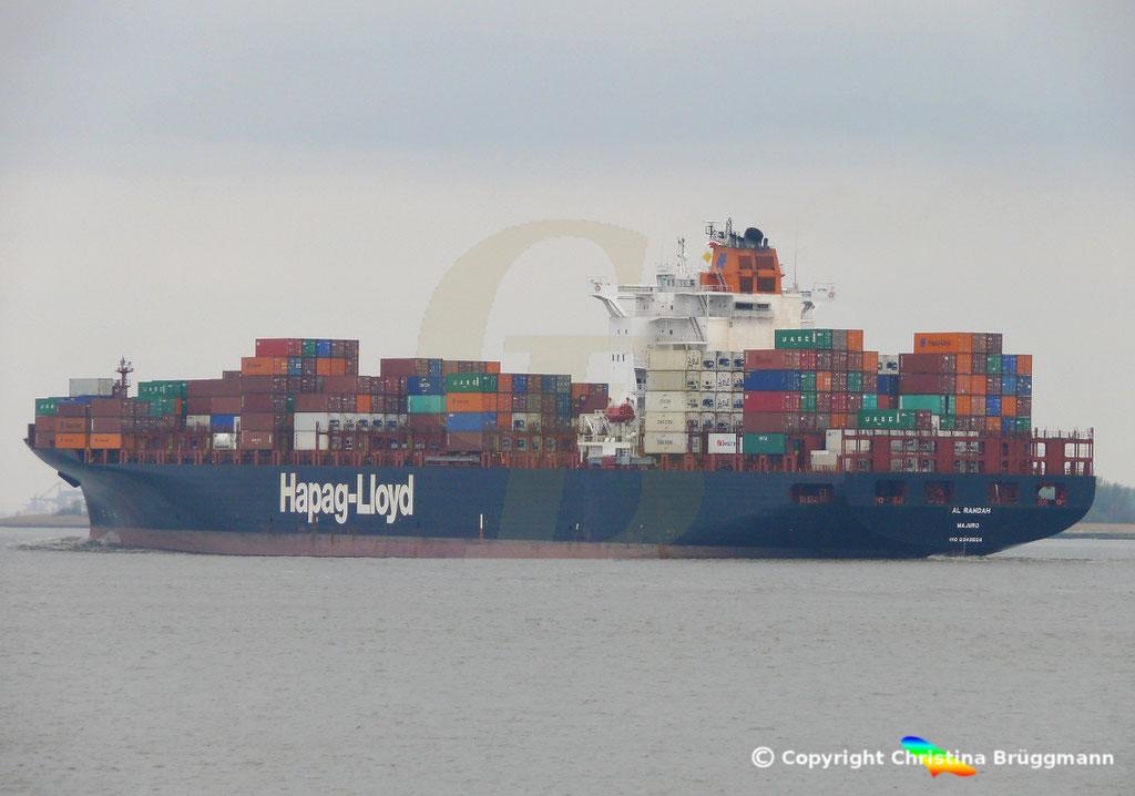 Containerschiff AL RAWDAH, Elbe 14.04.2019,  BILD 4