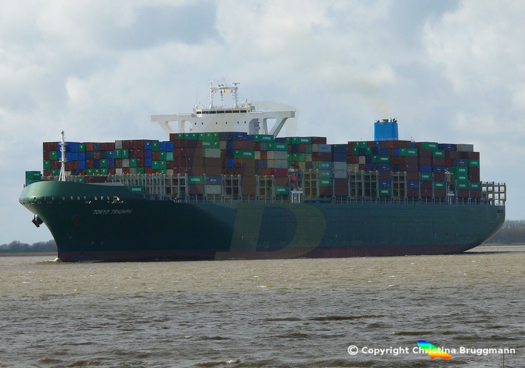 Containerschiff TOKYO TRIUMPH, Elbe 19.03.2019 / BILD 9