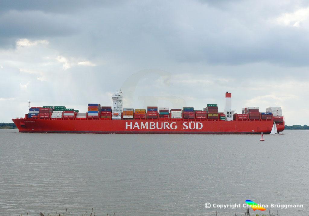 Containerschiff CAP SAN MARCO, Elbe 02.10.2016, BILD 4
