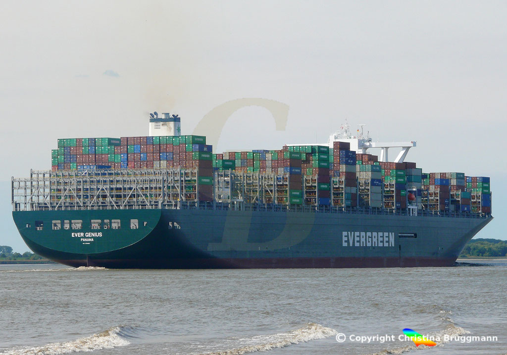 Containerschiff EVER GENIUS, Elbe 14.09.2018, BILD 5