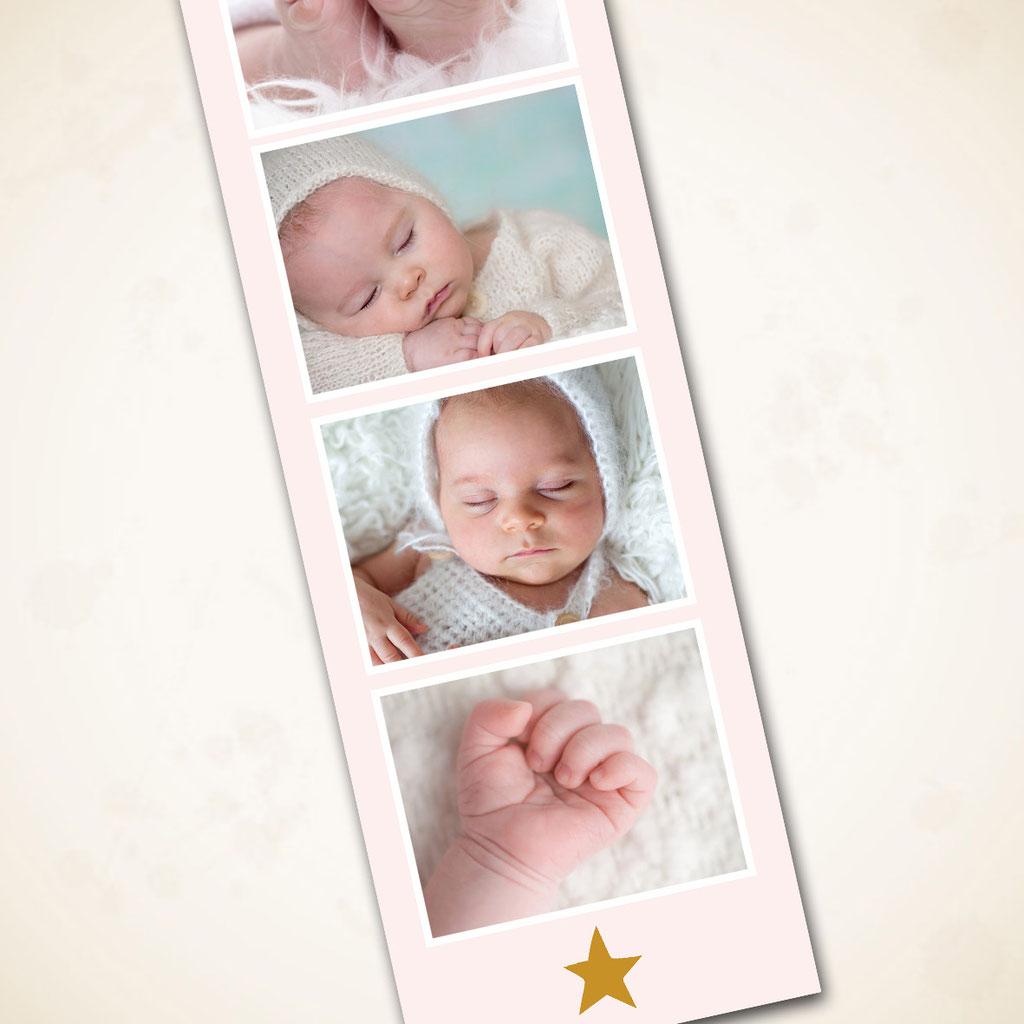 Geburtskarte mit Anhänger