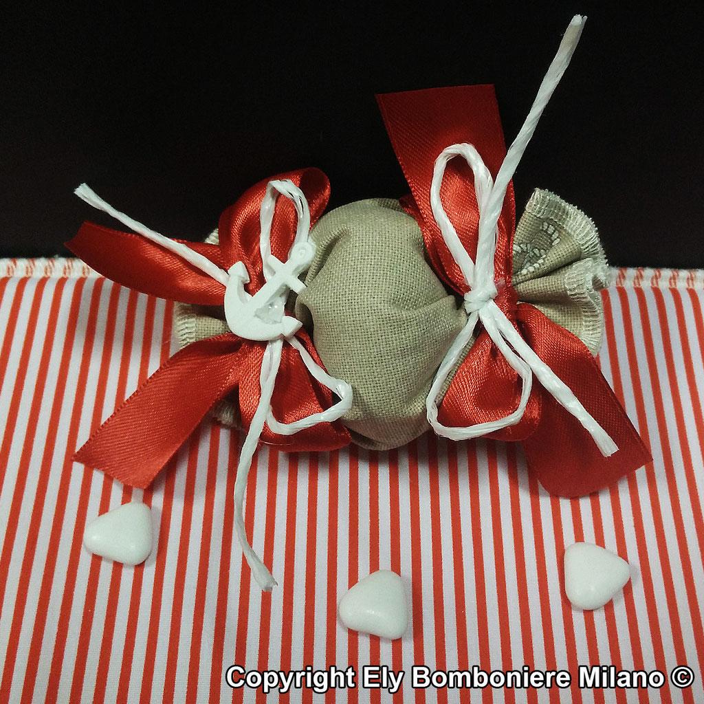 Caramella in puro cotone con gessetto a forma di ancora