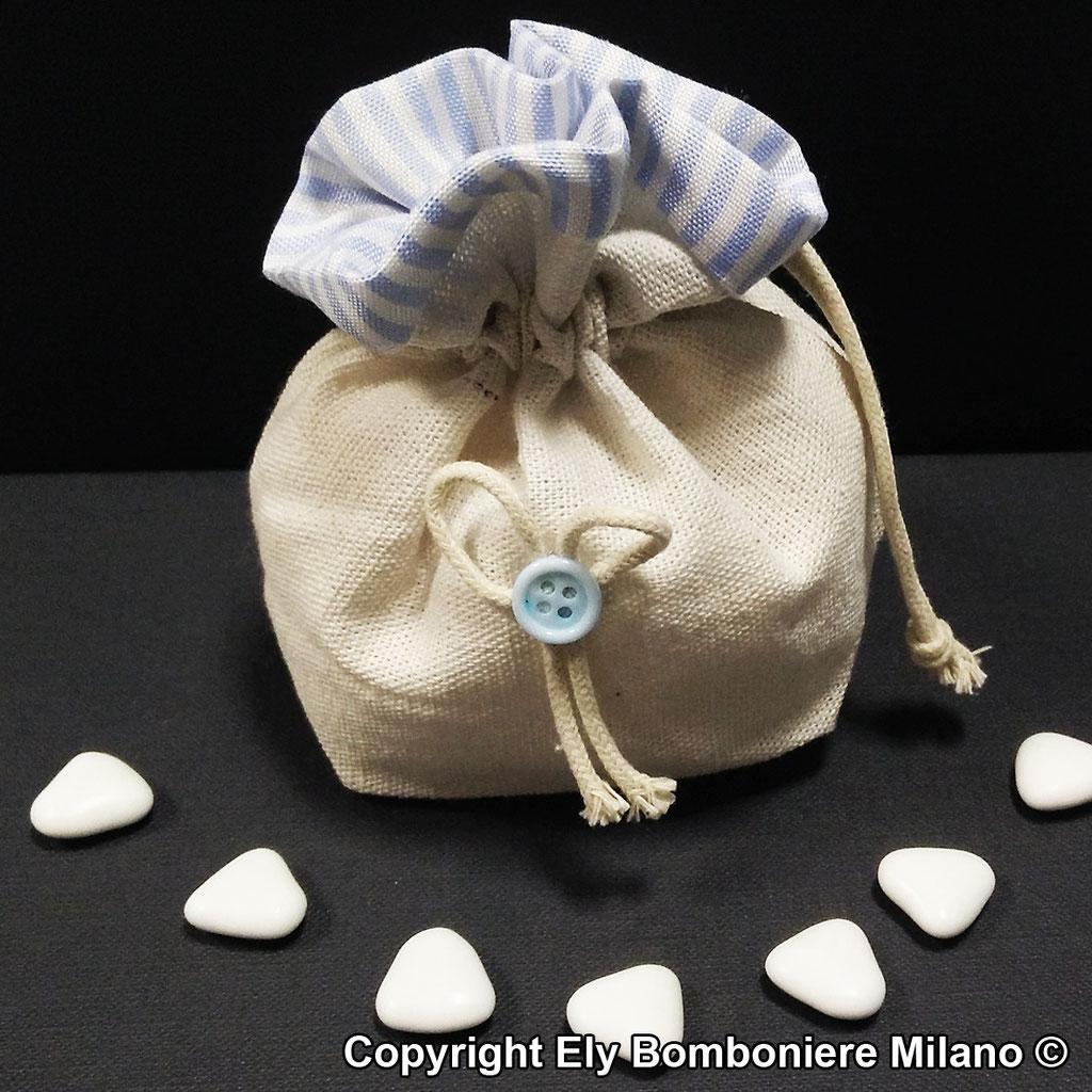 Sacchetto in puro cotone italiano