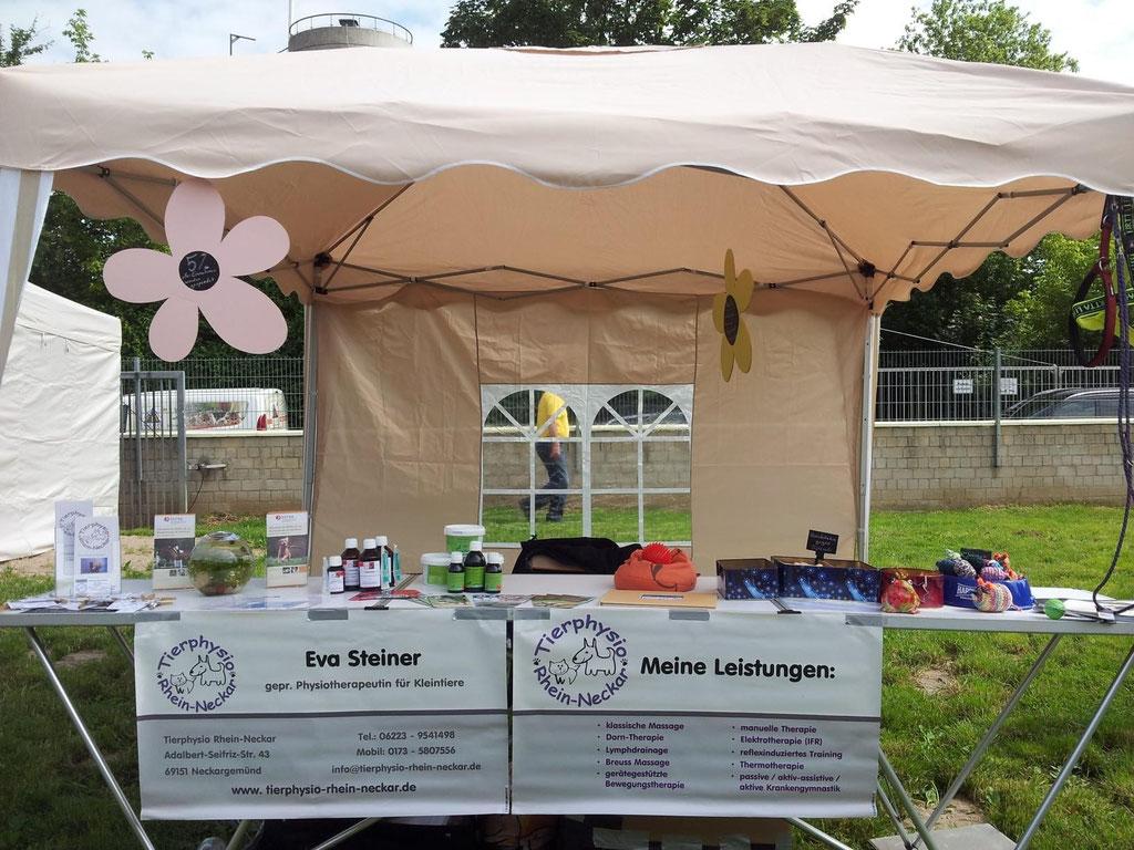 Info-Stand beim Sommerfest des Sinsheimer Tierheims