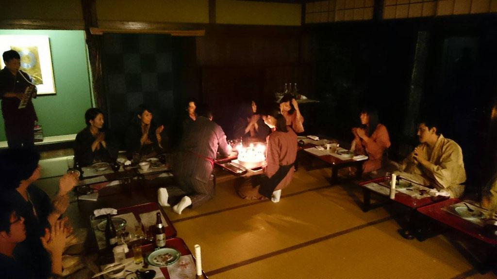 大山さん誕生日のサプライズ