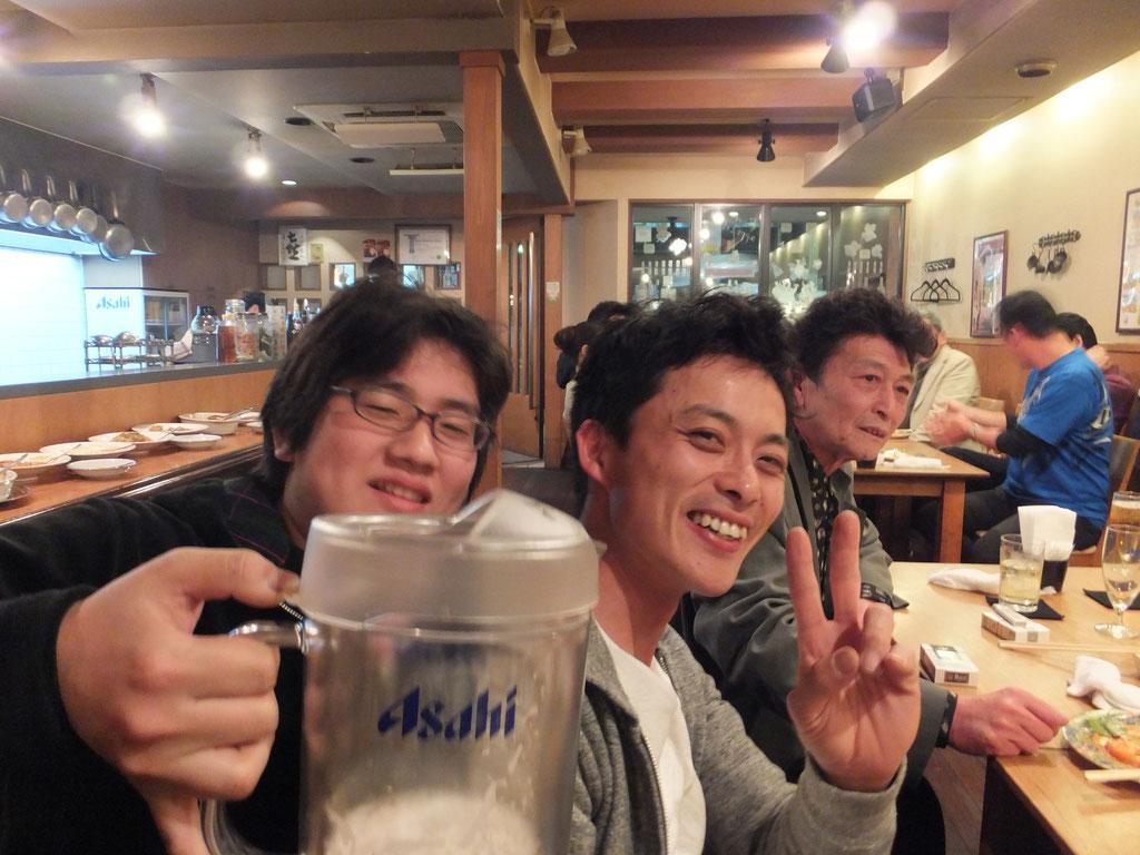 伊藤さん送別会 林と鈴木 2012