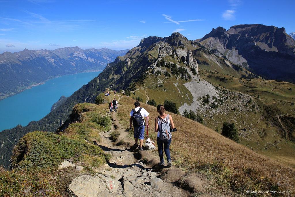 Nach einer kurzen Pause wandern wir dem Grat entlang Richtung Oberberghorn (2069 m)