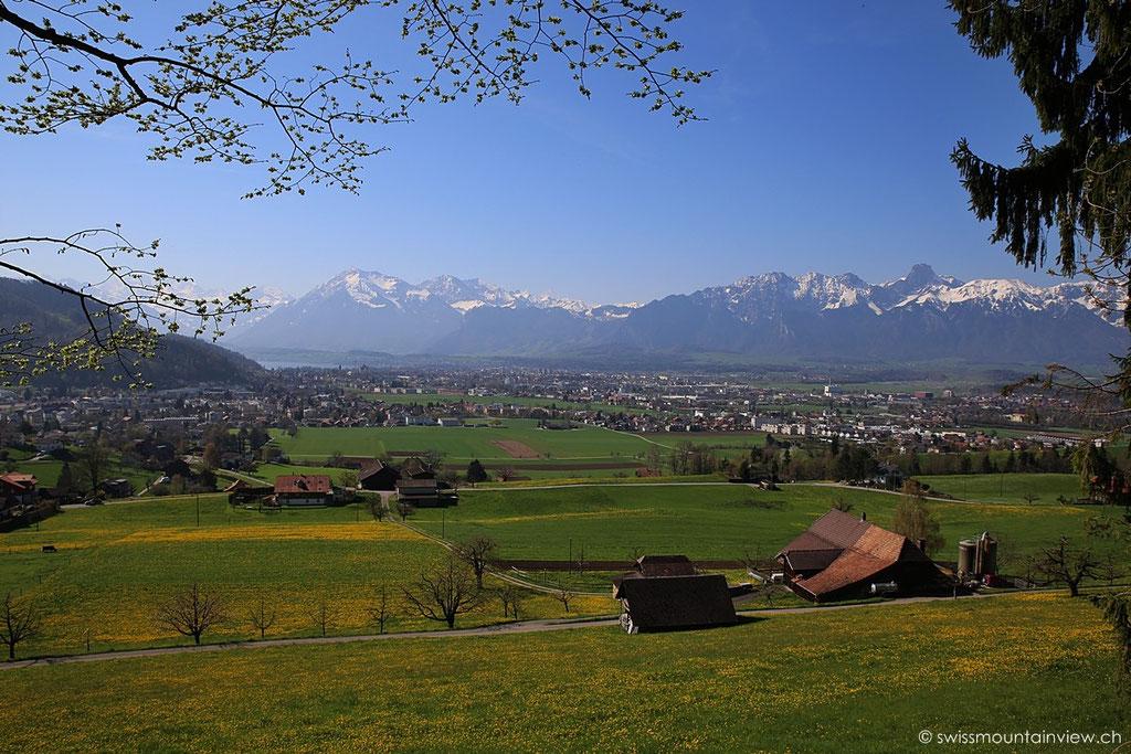 Steffisburg bei Thun, Blick Richtung Niesen, Berner Oberland - Bernese Oberland