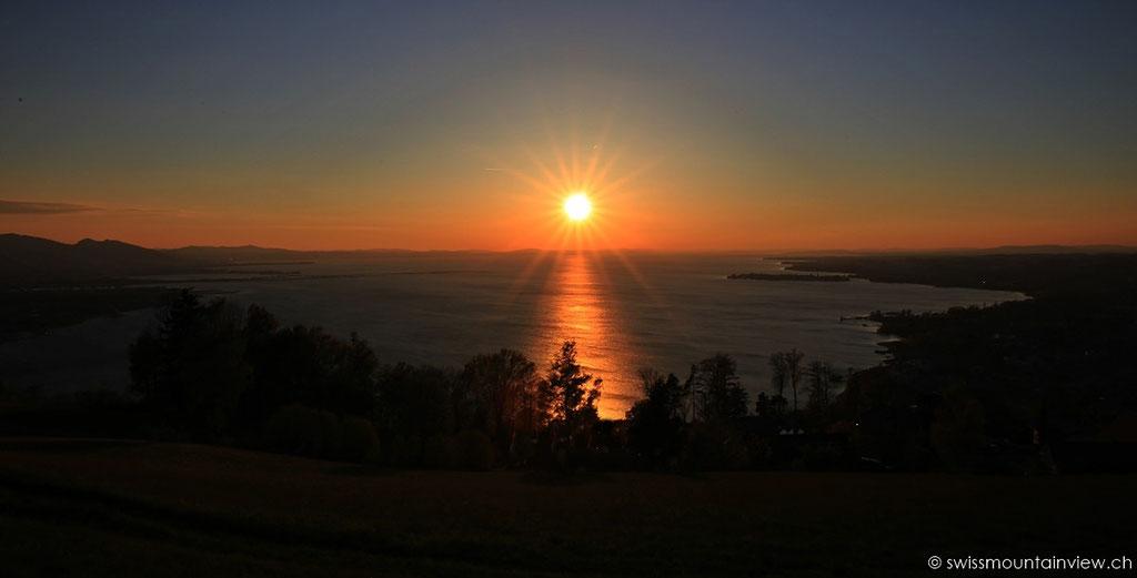 Sonnenuntergang beim Fritsch am Berg in Lochau