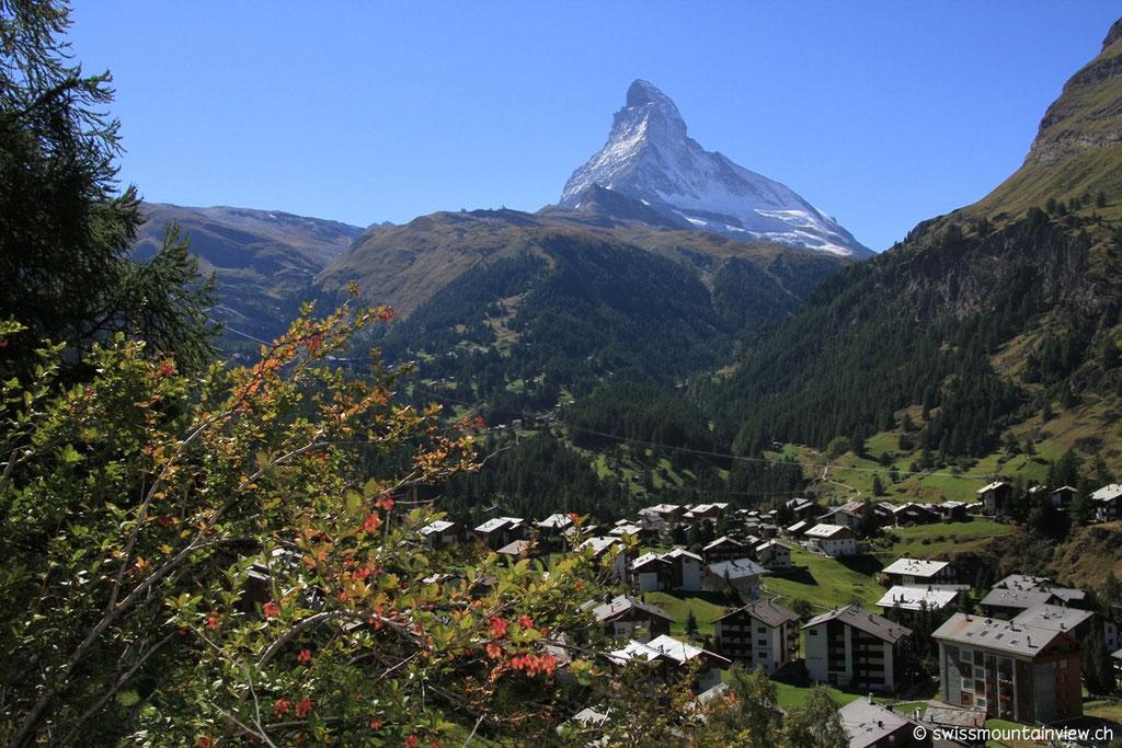 immer mit herrlichem Blick aufs 4'478 Meter hohe Materhorn.