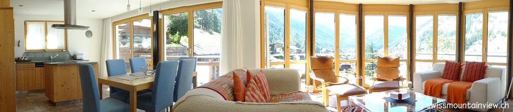 Statt der beiden gebuchten Hotelzimmer in der Alpen Lodge erhielten wir ein Upgrade - das Apartment - ein Traum!